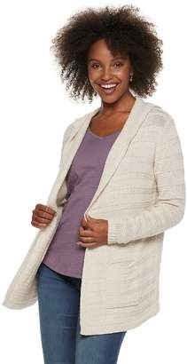Sonoma Goods For Life Women's SONOMA Goods for Life Stripe Stitch Hooded Cardigan