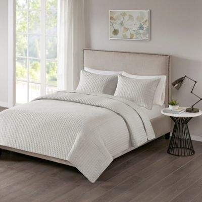 Bed Bath & Beyond 510 Designs Otto Full/Queen Coverlet in Grey
