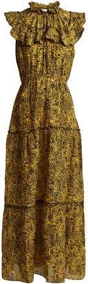 Wild Reed-print cotton and silk-blend maxi dress