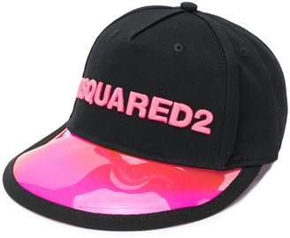 DSQUARED2 logo embroidered vinyl cap