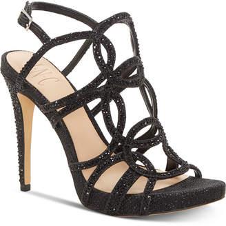 INC International Concepts I.n.c. Sahvi Caged Bling Evening Sandals, Women Shoes