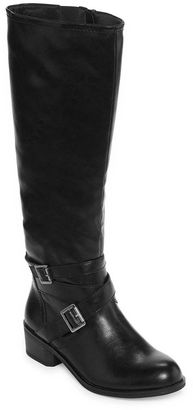 ARIZONA Arizona Dakota Two-Tone Riding Boots - Wide Calf $90 thestylecure.com