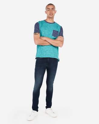 Express Burnout Color Block T-Shirt