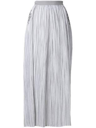 a4e89ba8ff Lorena Antoniazzi striped maxi skirt with sequin star details