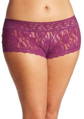 Hanky Panky Plus Wide-Band Signature Lace Boyshorts