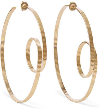 Annie Costello Brown - Circle Scroll Gold Vermeil Hoop Earrings