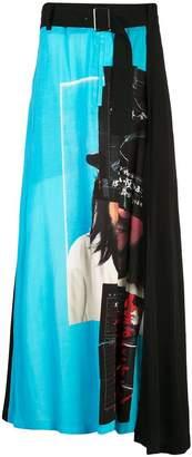 Yohji Yamamoto asymmetric printed skirt