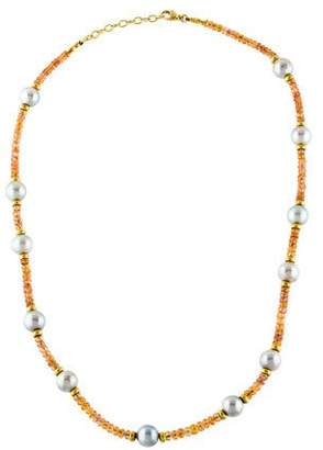 18K Pearl & Sapphire Necklace