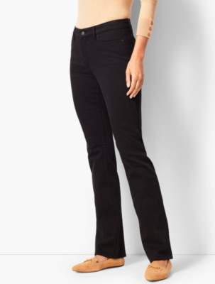 Talbots High-Rise Barely Boot Jeans - Never Fade Black