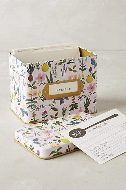 Rifle Paper Co. Spring Garden Recipe Tin