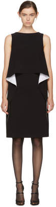 Givenchy Black and White Draped Dress