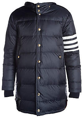 Thom Browne Men's Four-Bar Stripe Quilted Down Coat