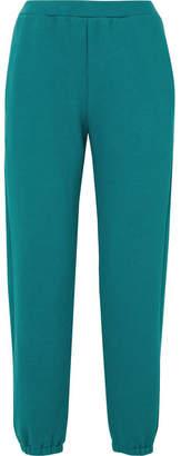 Simon Miller Yuba Organic Cotton-terry Track Pants - Teal
