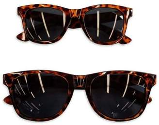 Tiny Treasures Mommy & Me 2-Piece Sunglasses Set in Tortoiseshell Brown $9.99 thestylecure.com