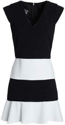 Moschino Two-Tone Cotton-Blend Mini Dress