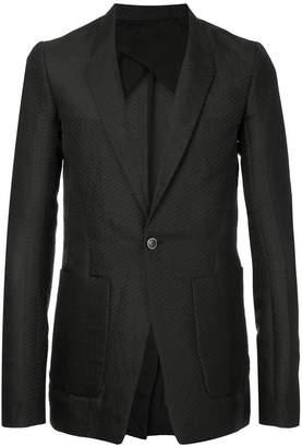 Rick Owens textured casual blazers