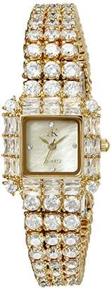 Adee Kaye Women's AK27N-LG Glamour II Analog Display Quartz Gold Watch