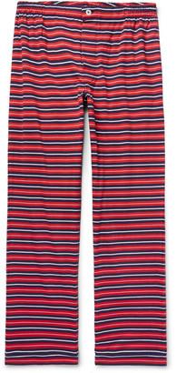 Sleepy Jones Marcel Striped Cotton-Jersey Pyjama Trousers $120 thestylecure.com