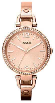 Fossil Georgia Glitz Rose Coloured Stainless Steel Watch