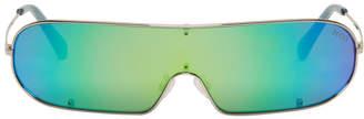 Emilio Pucci Gunmetal Shield Sunglasses