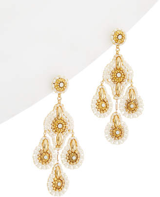 Miguel Ases 18K Crystal Drop Earrings