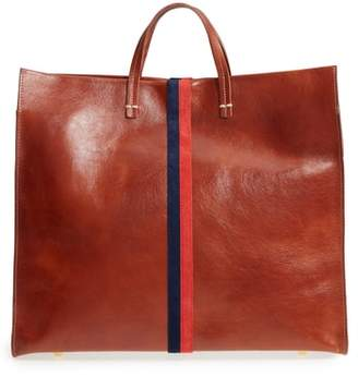 Clare Vivier Rustic Simple Stripe Leather Tote