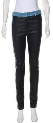 Acne Studios Denim-Paneled Leather Pants