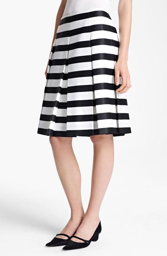 Marc Jacobs Large Stripe Satin Gabardine Skirt