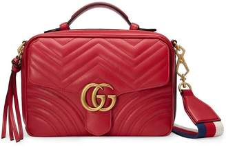 375b44dc413 Gucci Red GG Marmont Stripe shoulder bag