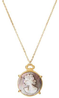 Julie Wolfe Women's Abalone Cameo Pendant Necklace - Gold