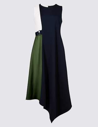 Marks and Spencer Colour Block Wrap Midi Dress