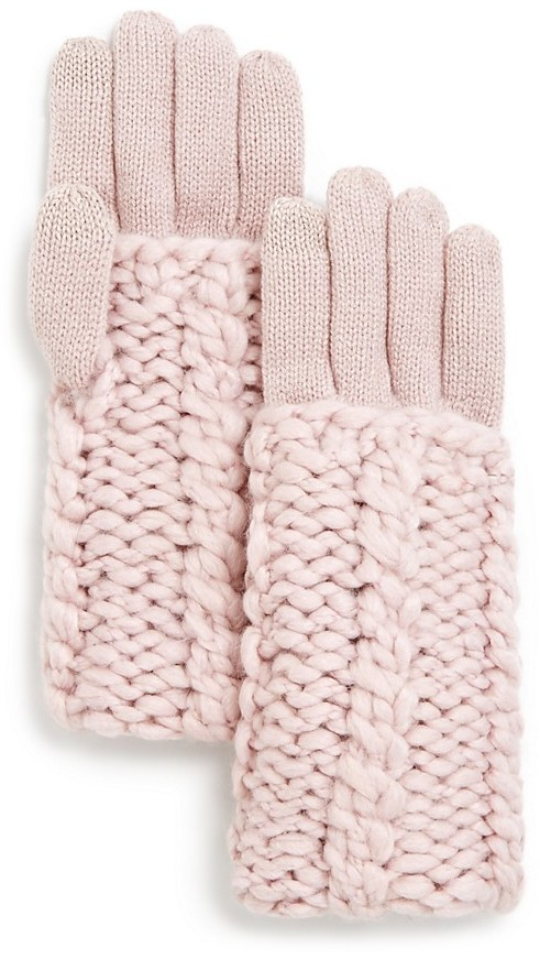 Rebecca MinkoffRebecca Minkoff Cable Knit Tech Gloves
