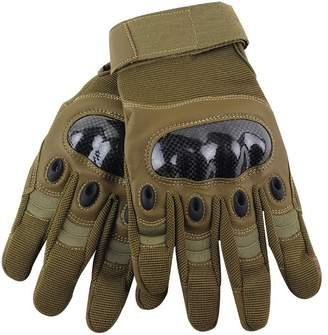 Tortor 1bacha Men's Tactical Gloves Military Hard Knuckle Protection Full Finger L