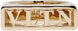 Valentino Gold Garavani Logo Ring