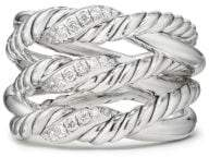 David Yurman Continuance® Three-Row Ring With Diamonds