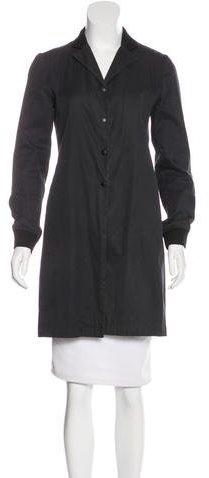 Miu MiuMiu Miu Rib Knit-Trimmed Lightweight Coat