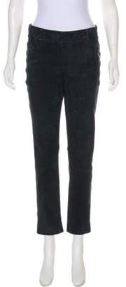 Loro Piana Suede Mid-Rise Pants Suede Mid-Rise Pants