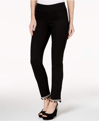 Style&Co. Style & Co Comfort-Waist Pom-Pom-Hem Pants, Created for Macy's
