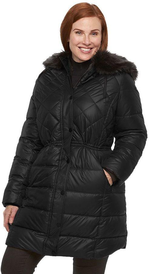 Apt. 9Plus Size Apt. 9 ̈ Hooded Anorak Puffer Jacket