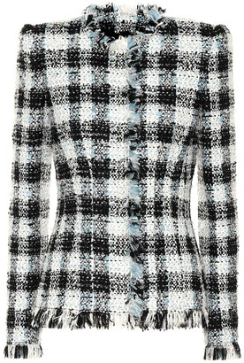 Alexander McQueen Checked tweed jacket