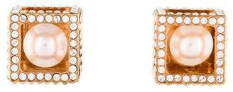 Vita Fede Pearl Boxed Cube Earrings