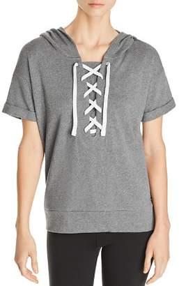 Andrew Marc Short-Sleeve Cotton Hoodie