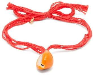 Aurelie Bidermann Takayama Seashell Charm Anklet - Womens - Red