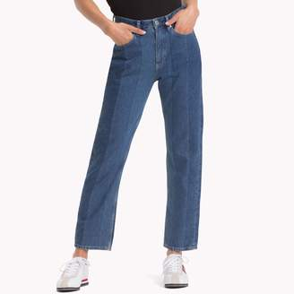 Tommy Hilfiger 1990 High Rise Straight Cropped Jean