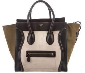 Celine Céline Tricolor MIni Luggage Tote Olive Céline Tricolor MIni Luggage Tote