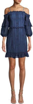 Parker Irma Lace Cold-Shoulder Mini Dress