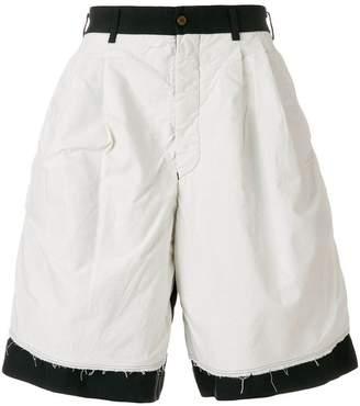 Comme des Garcons dual tone shorts