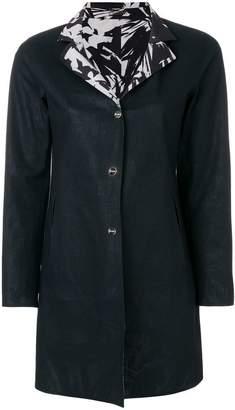Herno printed lapels coat