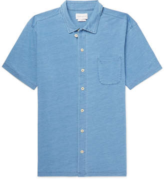 Oliver Spencer Indigo-Dyed Cotton-Jersey Shirt