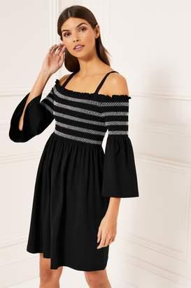 a88526de4a4 Next Lipsy Monochrome Contrast Cold Shoulder Dress - 6